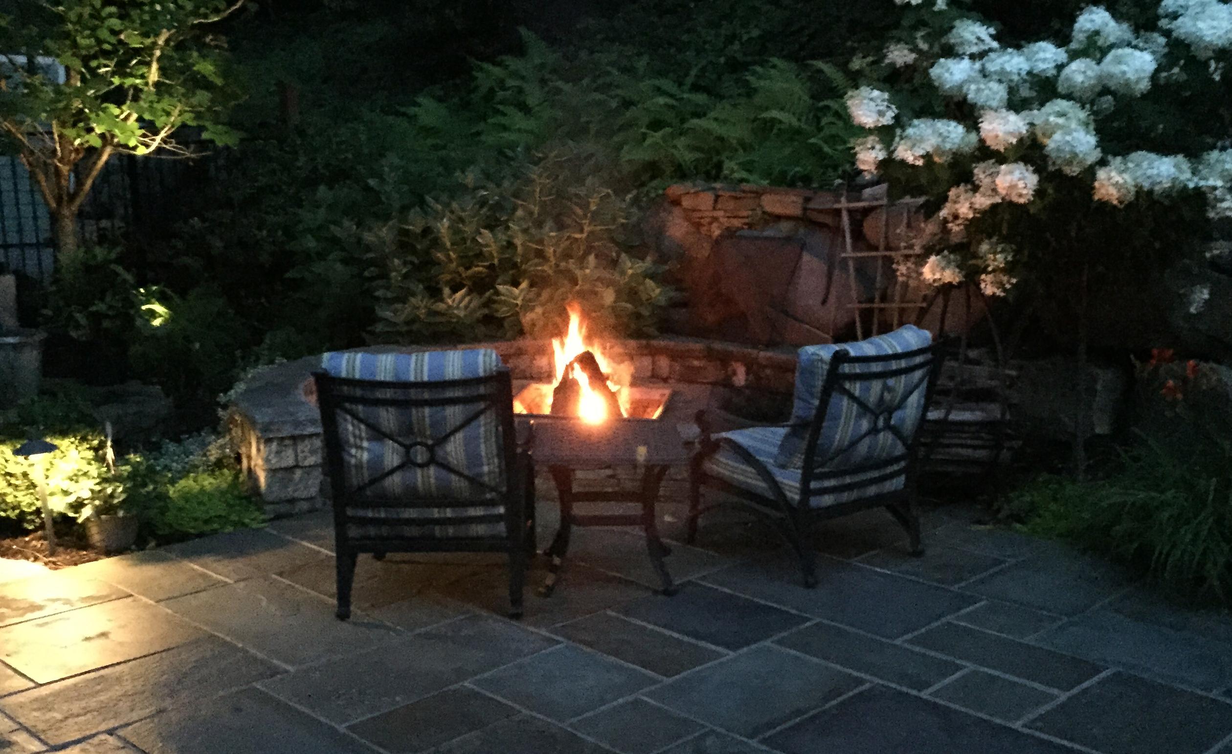 Custom Fire Pit Design Amp Build Autumn Leaf Landscape Design