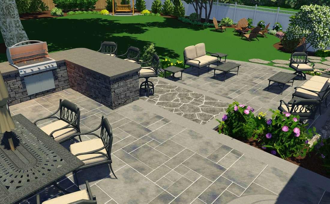 3D Patio Design 3D Conceptual Landscape ...