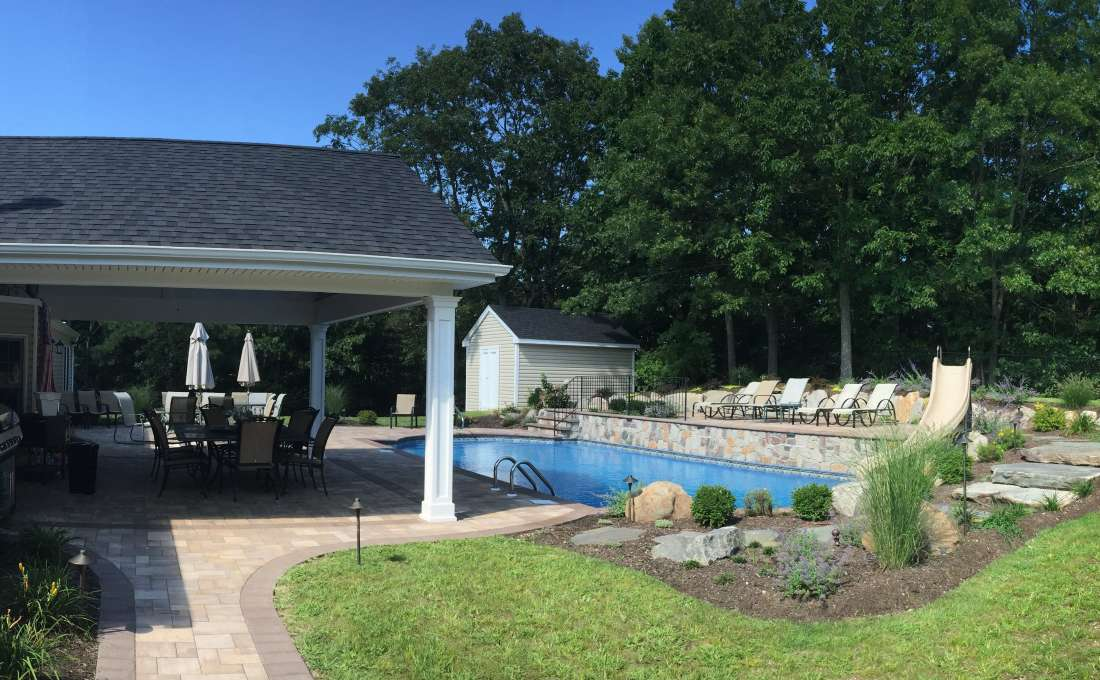 Cambridge Paving Stone Pool Patio. Commack, Long Island ...