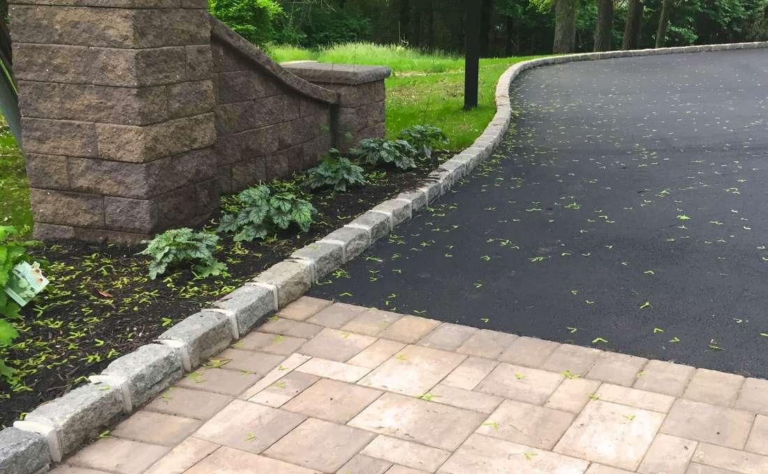 Granite Block Curb : Driveway design ideas professional masons company