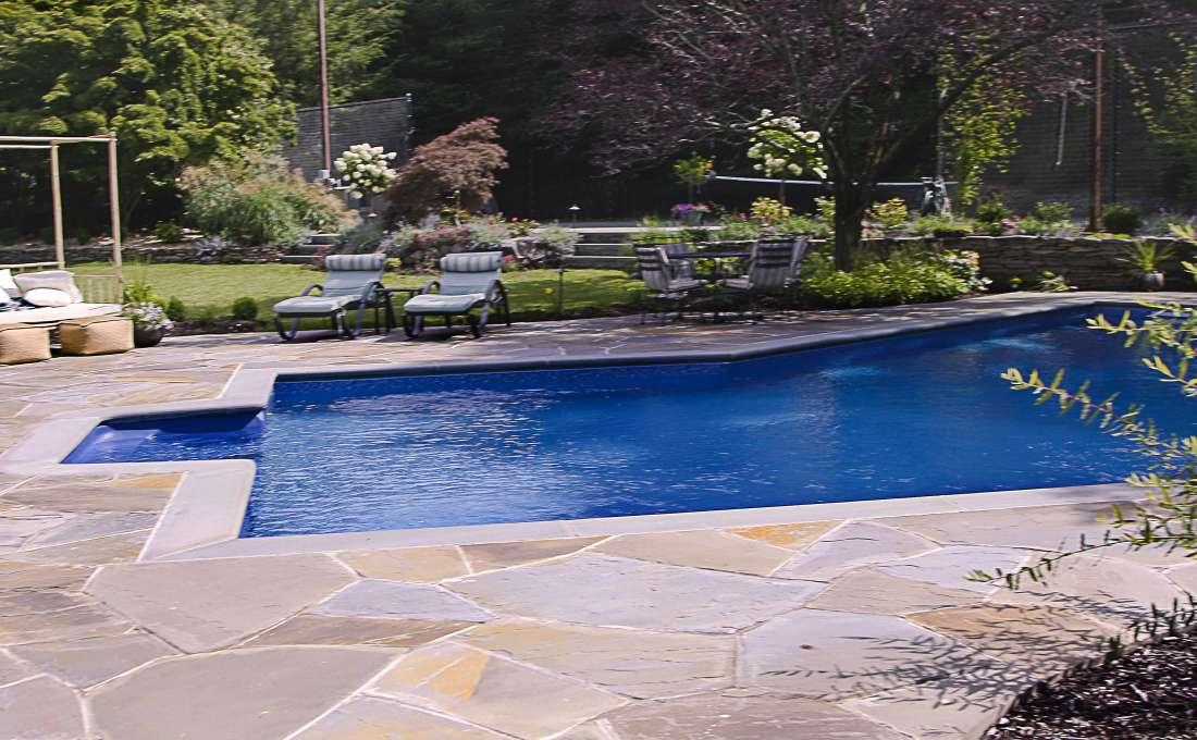 Cutsom Swimming Pool Landscape Designs | Autumn Leaf