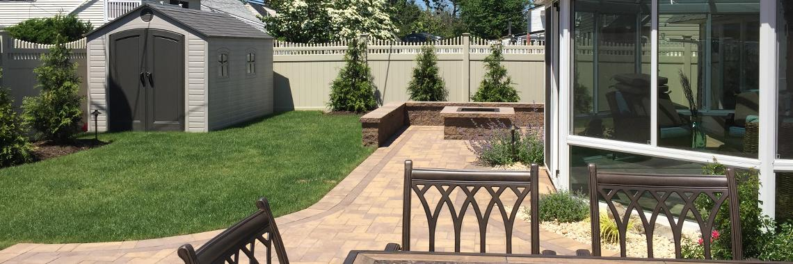 Backyard Paving Stone Patio Renovation. Westbury, Long Island