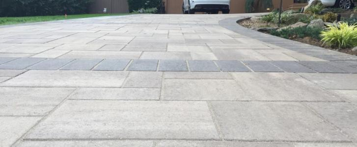 Paving Stone Driveway Worth The Cost Autumn Leaf