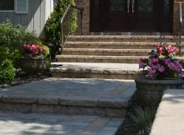 Front Entry paving stone walkway and inlay design