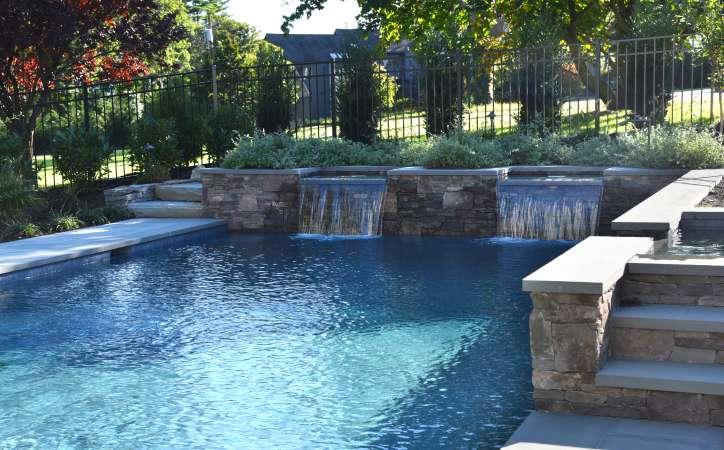Elegance & Charm for a New Pool & Patio | Autumn Leaf