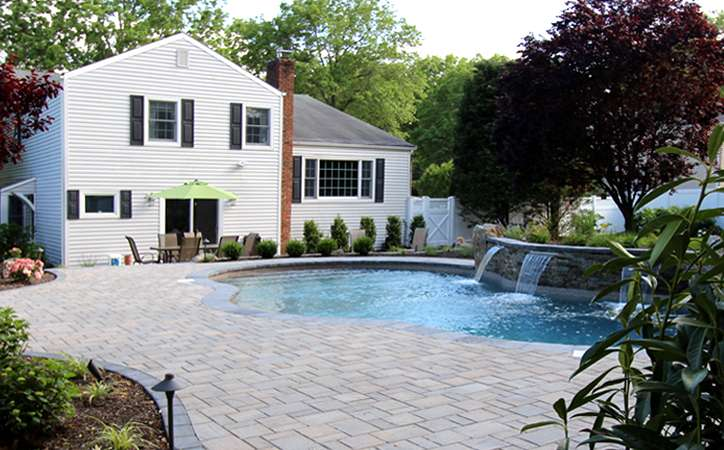 patio with pool.  Pool A Vibrant Backyard Swimming Pool For Patio With N