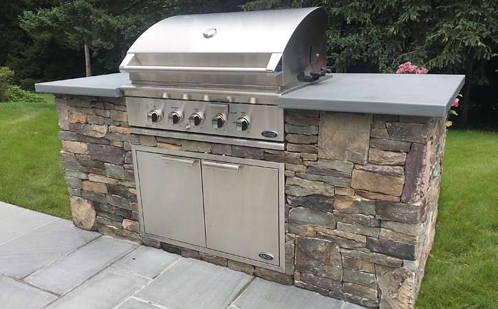 Elegance & Charm for a New Pool & Patio. Huntington, Long ... on Patio Grill Station id=86926