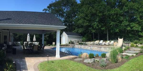 Cambridge Paving Stone Pool Patio. Commack, Long Island
