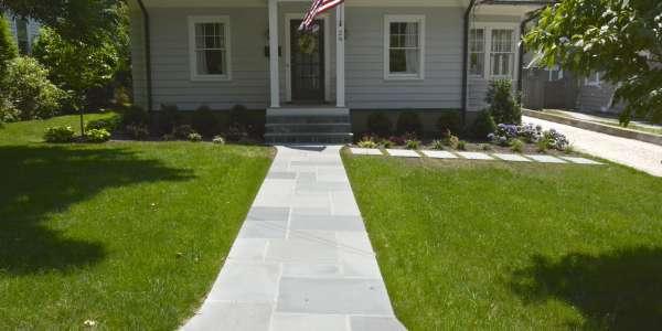 Bluestone Walkway. Huntington, Long Island